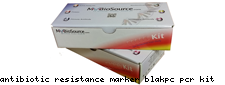Antibiotic resistance marker blaKPC pcr kit