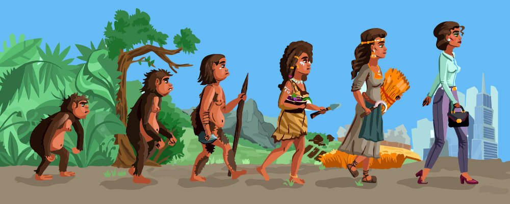 Human evolution but female version